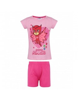 Pijama PJ Masks, roz, fete 3-8 ani