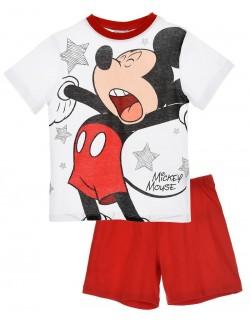 Pijama Mickey Mouse, alb - rosu, baieti 3-8 ani