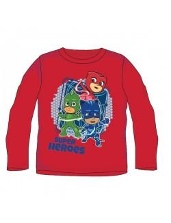 Bluza Eroii in pijamale,rosie, copii 3-8 ani