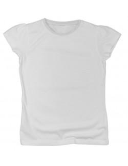 Tricou alb pentru fete 6 - 15 ani