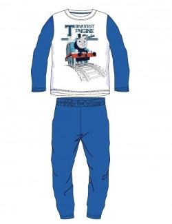 Pijama Thomas, alb - albastru, baieti 3-8 ani