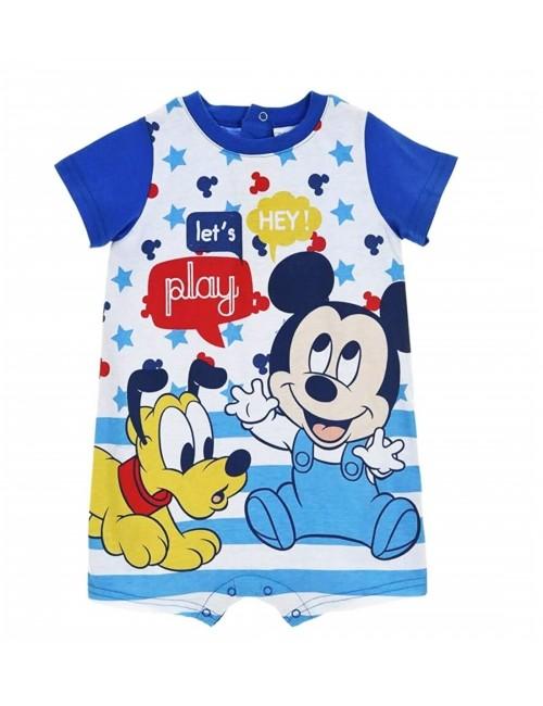 Salopeta Mickey & Pluto, albastra, bebelusi 6-24 luni