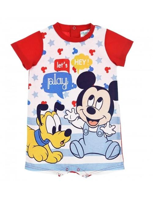 Salopeta Mickey & Pluto, rosie, bebelusi 6-24 luni
