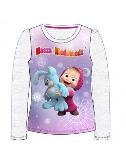 Bluza Masha cu iepuras, fete 3 - 8 ani