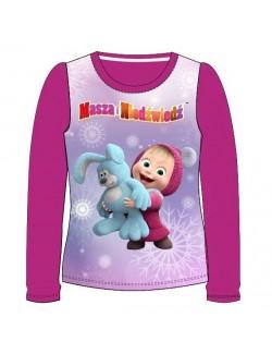 Bluza Masha cu iepuras, fucsia, fete 3 - 8 ani