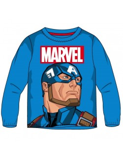 Bluza baieti, Captain America Avengers, 4 - 10 ani, albastra