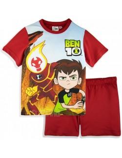 Set Tricou si pantaloni scurti baieti, Ben Ten, rosu, 3-8 ani