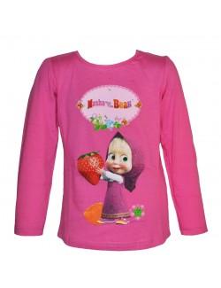 Bluza Masha cu capsuna, roz, copii 3 - 8 ani
