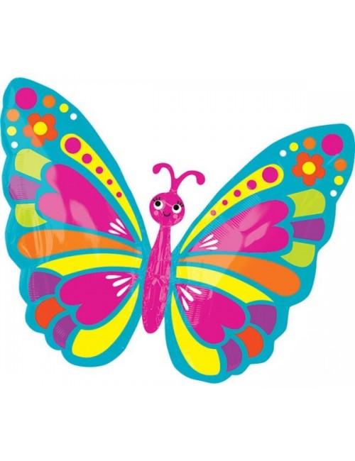 Balon folie Fluture multicolor, 66 x 53 cm
