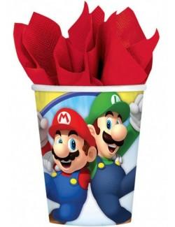 Set 8 pahare carton, 250 ml, Super Mario