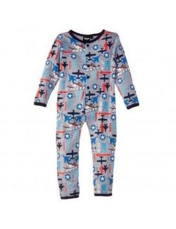 Pijama salopetă Disney Avioane, gri, copii 2-5 ani