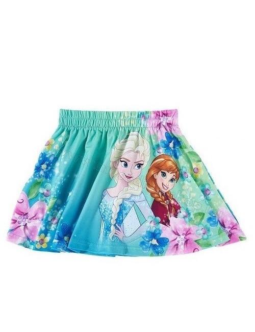 Fusta Frozen, Ana si Elsa, verde, 4 - 10 ani