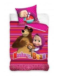 Lenjerie de pat, Masha si Ursul, 140 x 200 cm