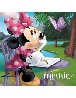 Perna decor, Minnie Mouse, verde, 40 x 40 cm