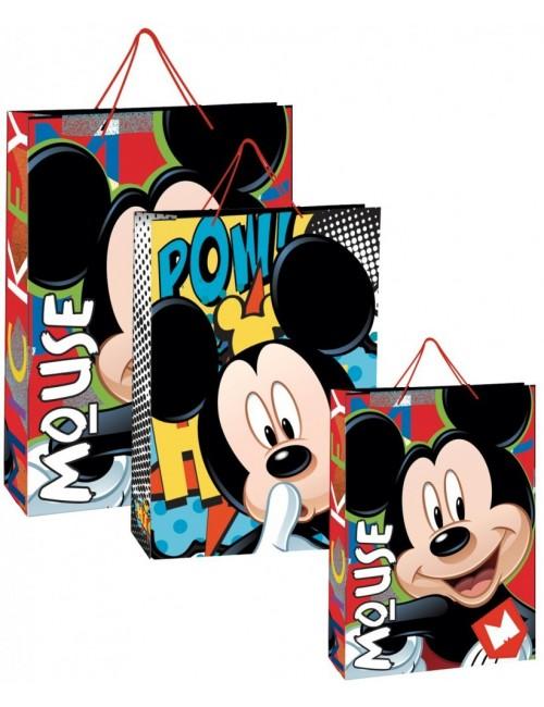 Punga cadou Mickey Mouse, 2 modele, 33 x 24 x 13 cm
