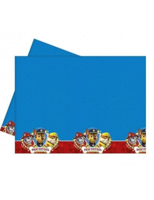 Fata de masa, Patrula catelusilor, 120 x 180 cm, albastru-rosu