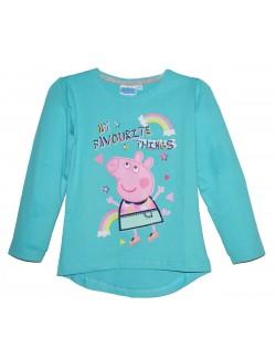 Bluza Peppa Pig, fete 3 - 8 ani, bleu