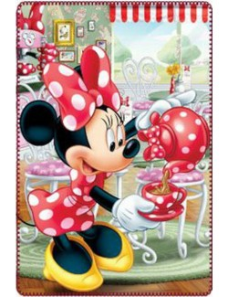 Paturica Minnie Mouse Tea Time, polar, 100 x 150 cm