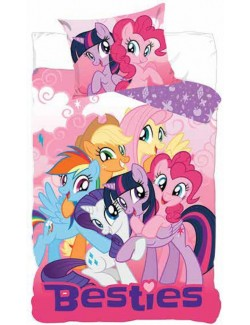 Lenjerie pat copii, My Little Pony Grup, 160 x 200 cm