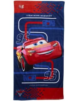 Prosop plaja Disney Cars Fulger McQueen, 70 x 140 cm