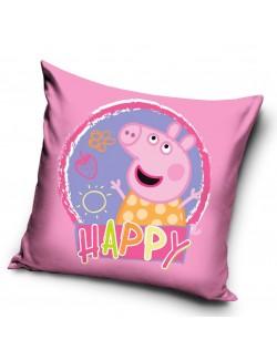 Fata de perna, Peppa Happy, roz inchis, 40 x 40 cm