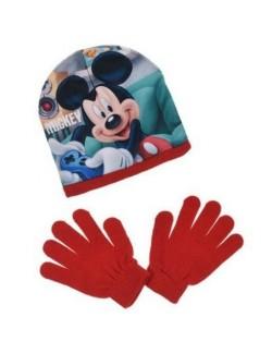 Set Caciula si manusi rosii, Mickey Mouse, 52-54