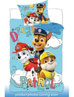 Lenjerie pat Paw Patrol Chase, Marshall, Rubble, 160 x 200 cm