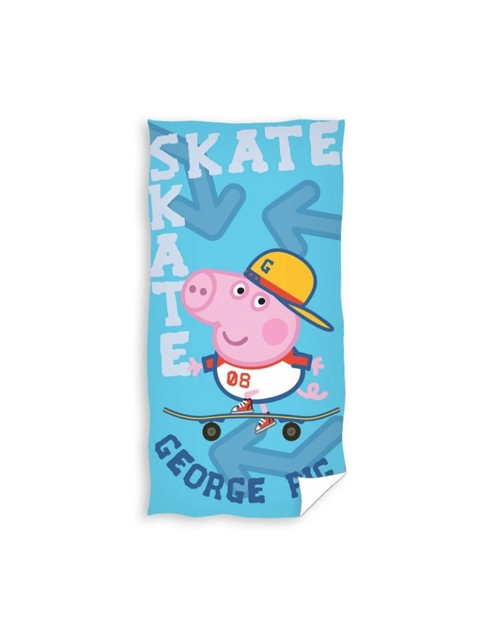 Prosop baie George Pig Skater, 70 x 140 cm