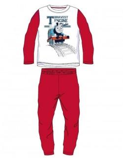Pijama Locomotiva Thomas, alb - rosu, baieti 3-8 ani