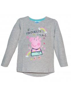 Bluza Peppa Pig, fete 3 - 8 ani, gri