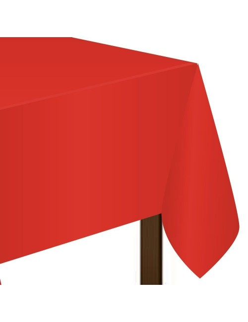 Fata de masa PVC, rosie, 137 x 274 cm