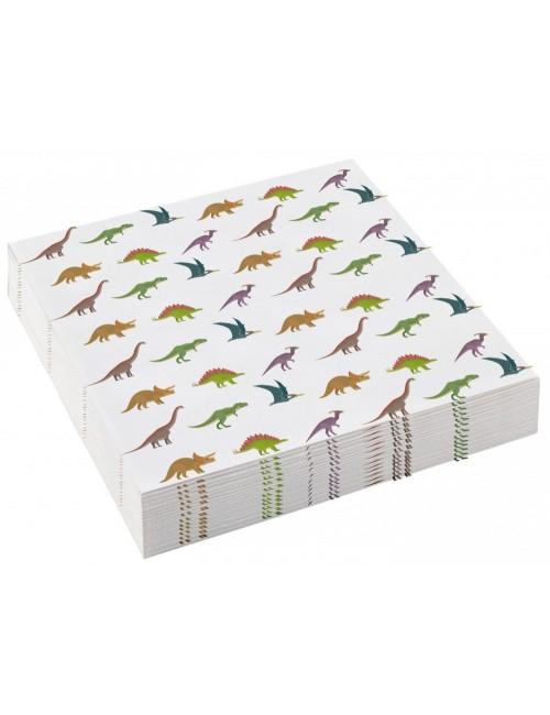 Set 20 servetele Dinozauri, 25 x 25 cm