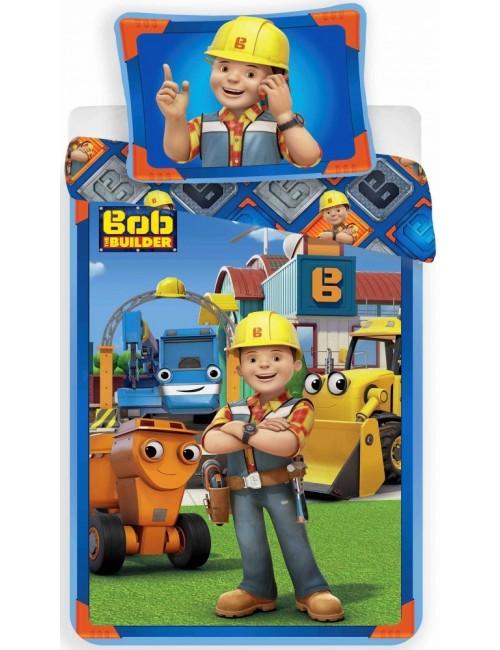 Lenjerie pat Bob Constructorul, 140 x 200 cm