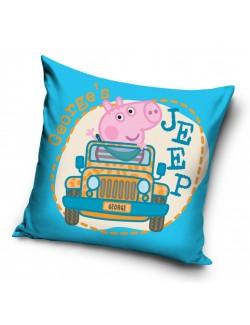 Fata de perna, George Pig cu masina, 40 x 40 cm