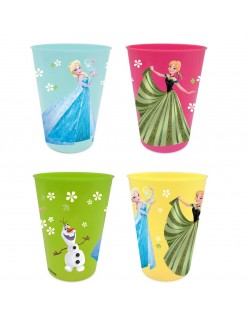 Set 4 pahare plastic, Disney Frozen, 280 ml