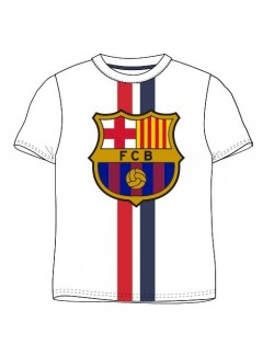 Tricou FC Barcelona, copii 122-146 cm, alb