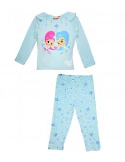 Pijama Shimmer si Shine, fete 3- 6 ani, bleu