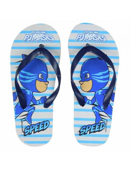 Papuci plaja, Pisoi PJ Masks, alb/albastru, 25 - 33