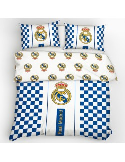 Lenjerie de pat, Real Madrid, alb-albastru, 220 x 200 cm