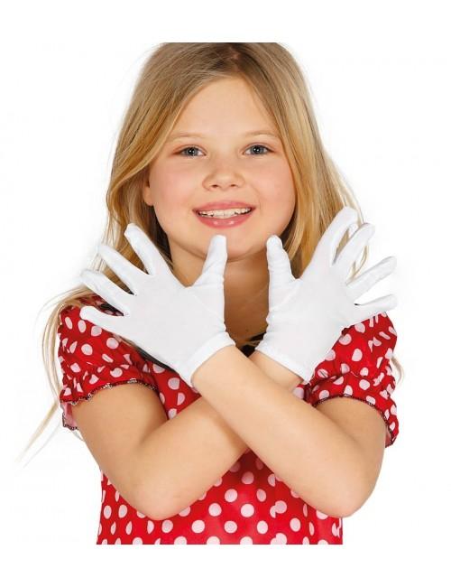 Manusi albe copii, 17 cm