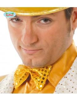 Papion galben cu paiete aurii, 11 cm