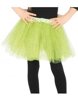 Fusta tutu, verde deschis, 31 cm
