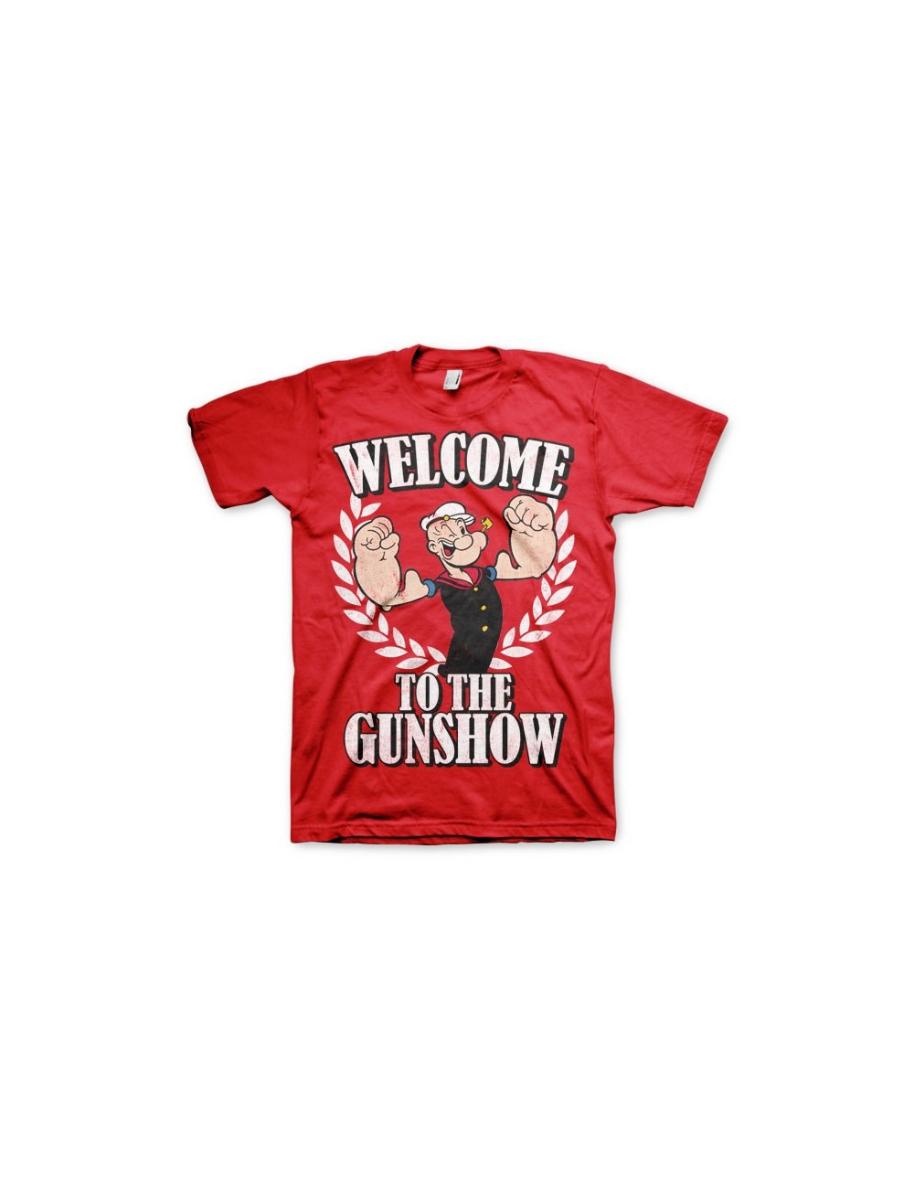 "Tricou barbati Popeye ""Welcome to the Gunshow"""