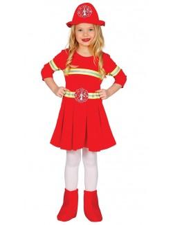 Costum fetita pompier, 3 - 6 ani