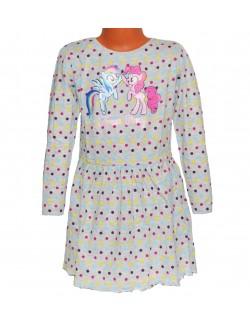 Rochie My little Pony, copii 3-8 ani, gri cu buline