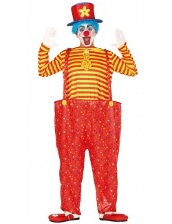 Costum carnaval Clown rosu, adulti, M-L