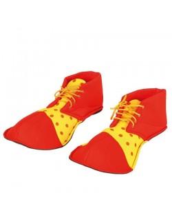 Pantofi Clown, rosu-galben, 36 cm, adulti