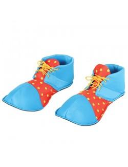 Pantofi Clown, albastru-rosu, 36 cm, adulti