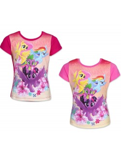 Tricou My little pony - grup, fete 2-6 ani