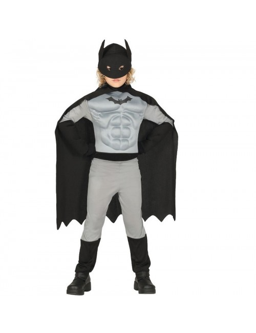Costum, Batman Super Hero cu muschi, 3-12 ani